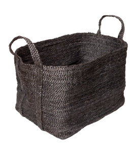 Large Charcoal Jute Basket from Twine Home Store