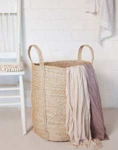 Natural Jute Laundry Basket from Twine Home Store