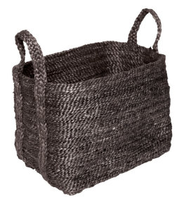 Medium Charcoal Jute Basket from Twine Home Store
