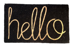 Hello Doormat from Twine Home Store