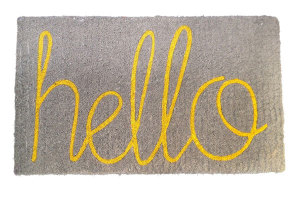 Hello Doormat from Twine Home Store
