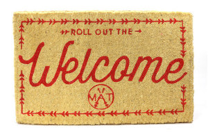 Roll out the Welcome Doormat from Twine Home Store
