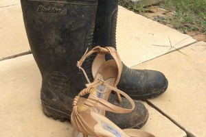 Wollombi tree chang story. Gumboots and Jimmy Choos